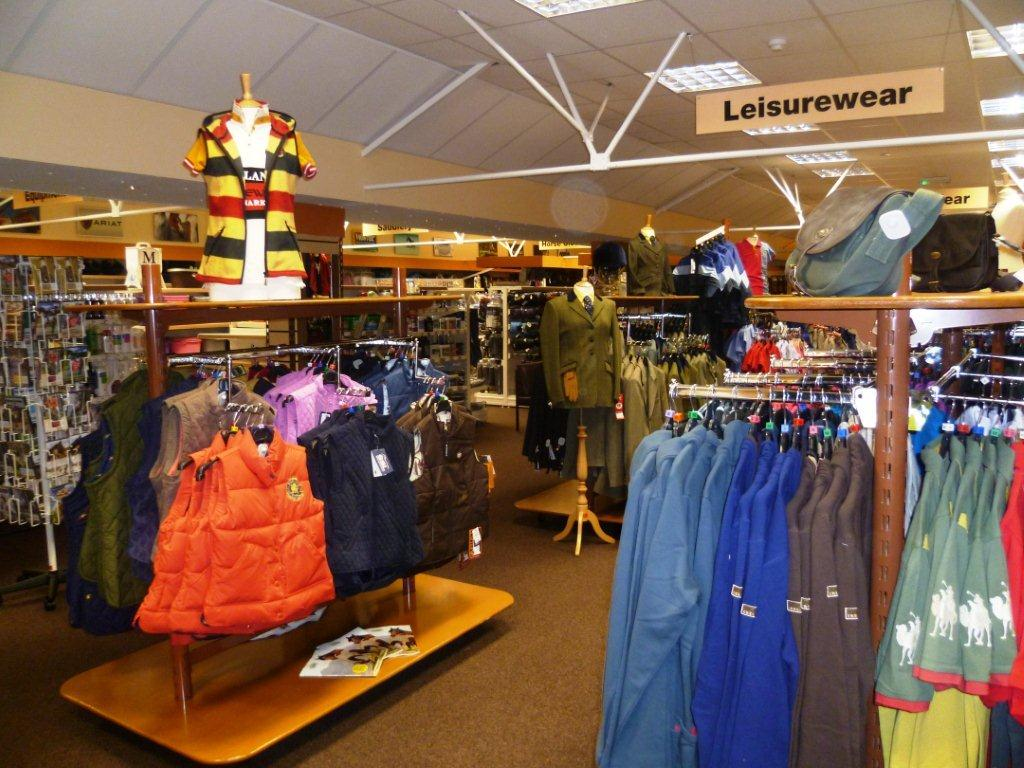 The Leisurewear area at our Cardiff Store